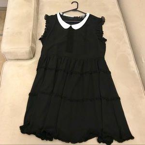 Hot Topic Chiffon Goth Lolita Ruffle Dress NWT